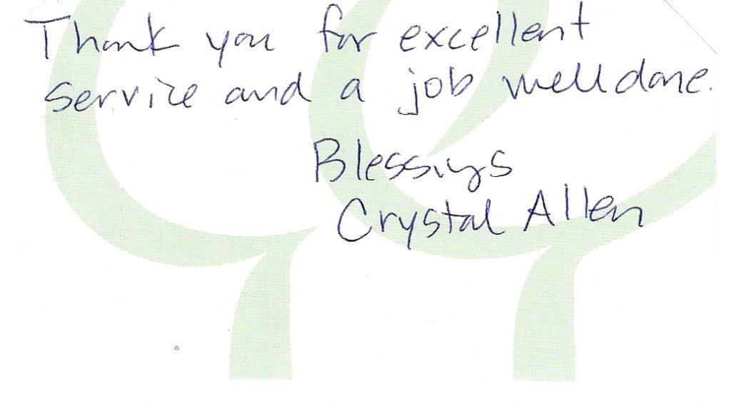 handwritten review great work