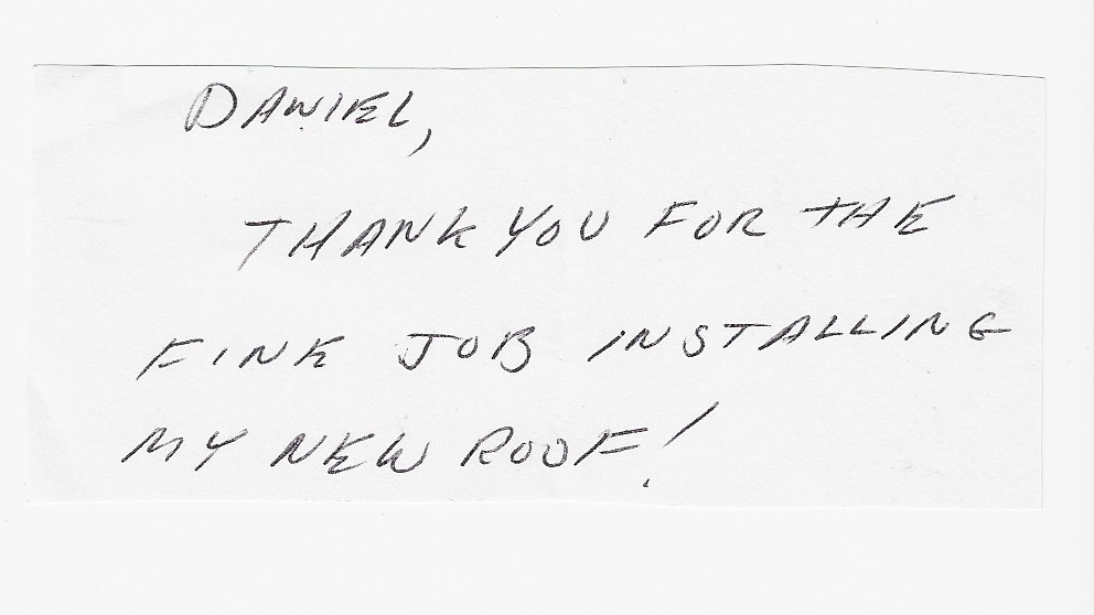 handwritten review thanks again